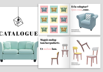 Catalog Layout with Pastel Color Theme