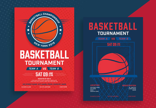 Basketball Tournament Poster Layouts