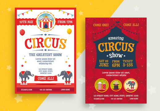Circus Flyer Layouts