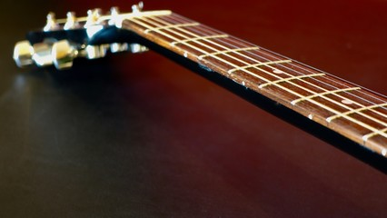 acoustic guitar . color background