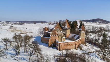 Alma Vii fortified church, Romania
