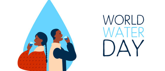 World Water Day banner for safe drinking waters