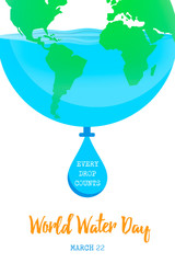 World Water Day earth concept for environment care