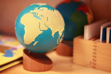 Montessori globe of land and water