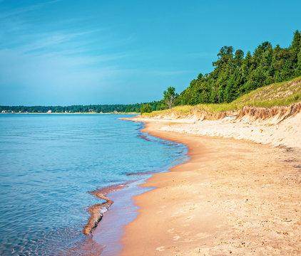 Sandy Beach at Whitefish Dunes State Park on Lake Michigan