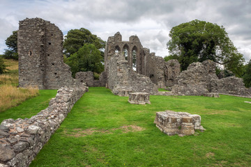 Ruins of Inch Abbey in Northern Ireland