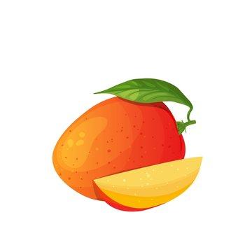 Mango icon, cartoon