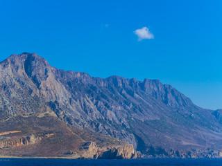 Awesome rocky mountain coastline of Crete