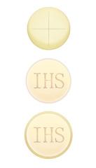 Hostia, komunia, IHS