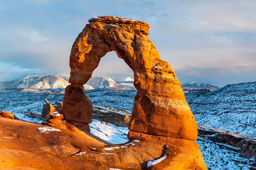 Delicate Arch WInter Sunlight Fototapete