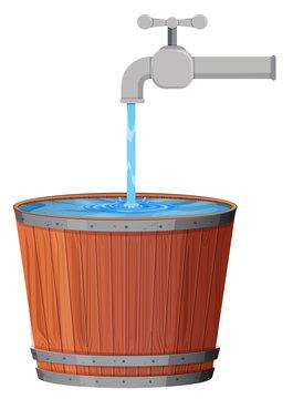 A water drop in bucket