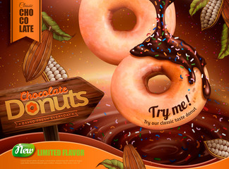 Sprinkled chocolate donut