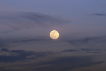 Image showing a full moon rising in California