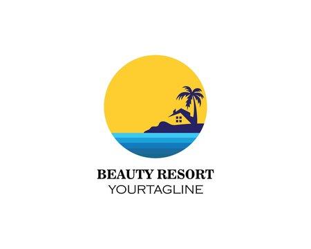 home resort logo vector illustration