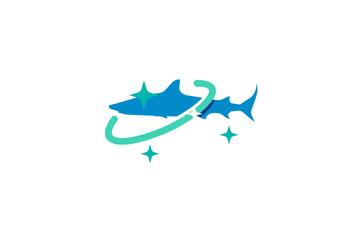 Shark Planet Logo Template Inspirations