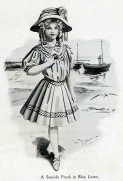 Girls Seaside Frock 1907