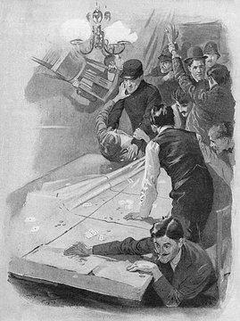 Police Raiding a Gambling Club in Soho, London