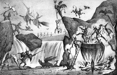Devils and Witches in Hell