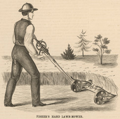 Fishers Man Mower 1863