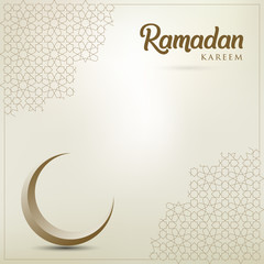 Ramadan kareem background, illustration with golden ornate crescent. EPS 10 contains transparency - vector