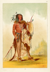 Wun Nes Tou, Medicine Man of the Blackfeet Tribe