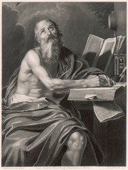 Saint Jerome, Theologian, Writing in His Cell