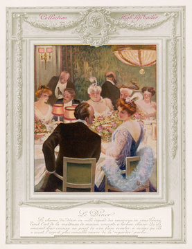 Dinner Party in an Aristocratic French Home