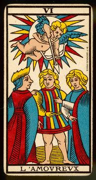Tarot Card 6 LamoureuxThe Lover or Lovers