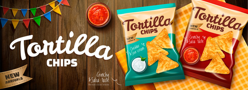 Delicious tortilla chips ads