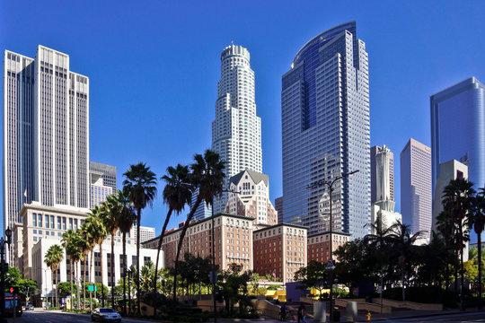 LA Downtown skyscraper in sunshine