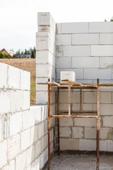 Details of house home construction site