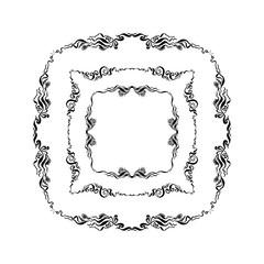 set of decorative frames. hand drawn vector illustration on white background