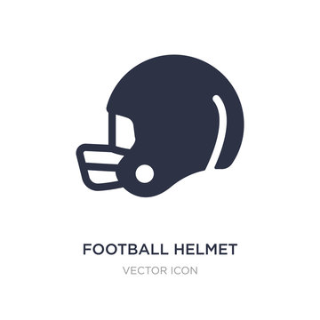 football helmet icon on white background. Simple element illustration from American football concept.