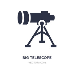 big telescope icon on white background. Simple element illustration from Astronomy concept.