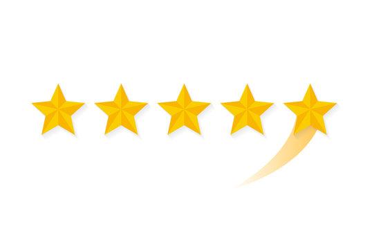 Star rating. Vector illustration flat design.