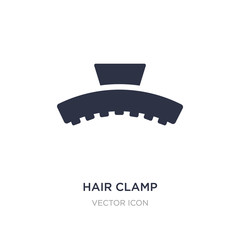 hair clamp icon on white background. Simple element illustration from Beauty concept.