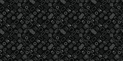Gadgets and devices seamless pattern