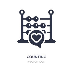 counting icon on white background. Simple element illustration from Blogger and influencer concept.