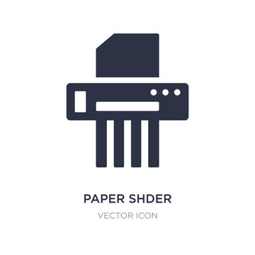 paper shder icon on white background. Simple element illustration from Business and analytics concept.