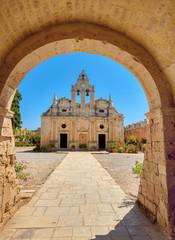 The main church of Arkadi Monastery, Rethymno, Crete