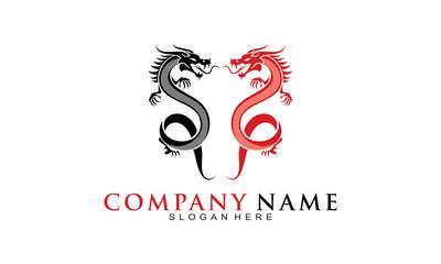 Two dragon logo