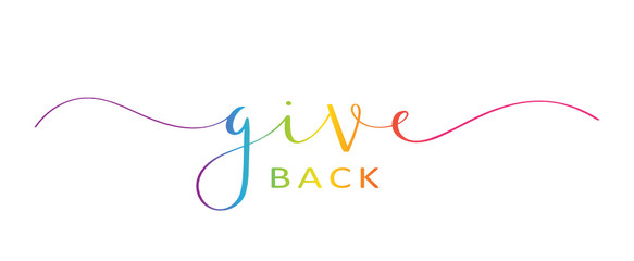 GIVE BACK brush calligraphy banner