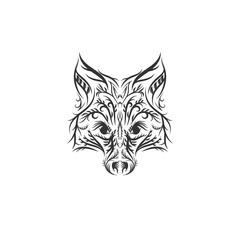 hand drawn fox illustration