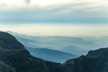 World's End in Horton Plains in Sri Lanka Rocky