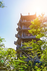 Temple pagoda at the marble mountains
