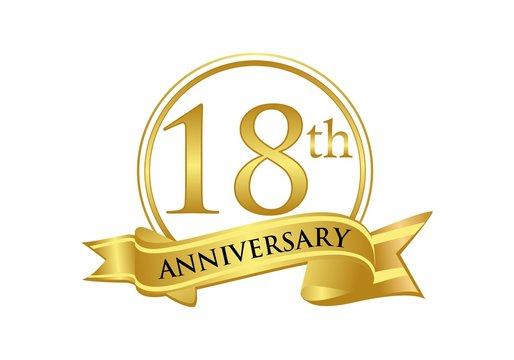 18th anniversary celebration logo vector