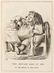 The BriTish Lion in 1850Punch CarToon on Free Trade