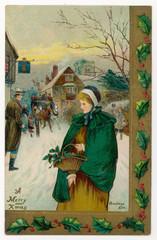 Lady in Wintry Street