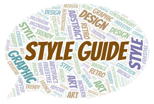 Style Guide word cloud.
