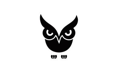 Foto op Canvas Uilen cartoon logo angry owl